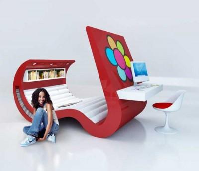 Multifunkční nábytek Roberty Rammê / Potěší nejen teenagery