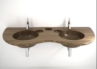 Dřevěná umyvadla: Souznění přírody s aktuálními technologiemi (http://www.homemag.cz)