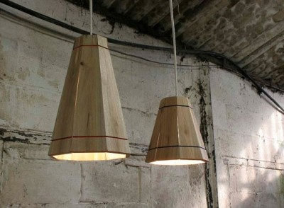 Originální lampy Recycled Wooden Pallet Hanging Lamp Shade